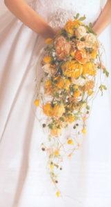 свадебный каплевидный букет на свадьбу