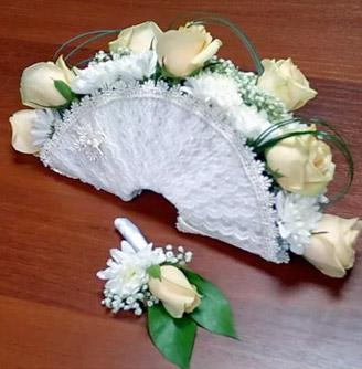 фото букета невесты - веер