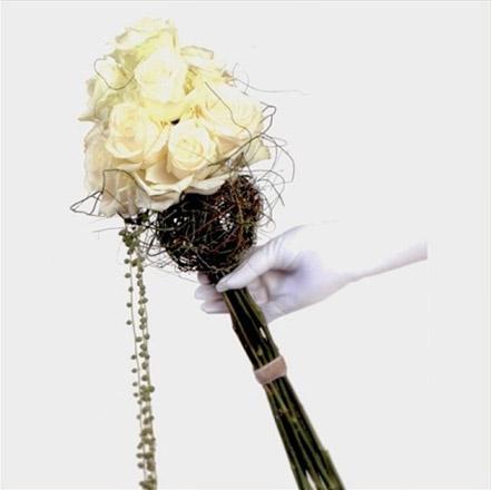 свадебный букет невесты-скипетр