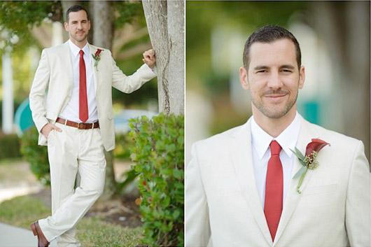 красный галстук жениха