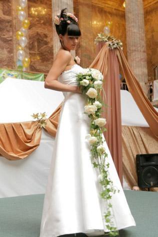 букет невесты - гирлянда