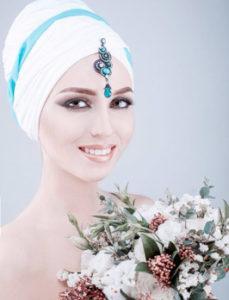 индийские украшения в причёску невесты