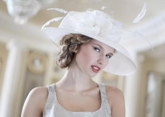 шляпка и свадебная причёска