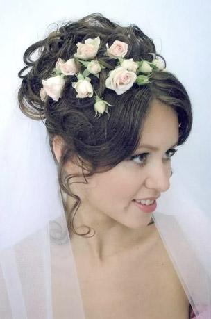 цветок в причёску невесты