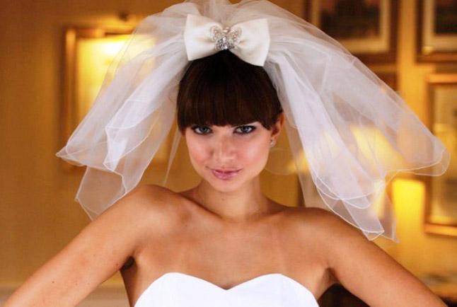 свадебные причёски с фатой