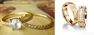необычные кольца на свадьбу