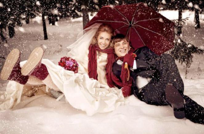 когда ваша свадьба зимой, или как не замёрзнуть невесте