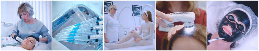 Видео косметических процедур для показа на ТВ в салонах красоты для визуального ознакомления клиентов клиники ассортиментом услуг и процедур